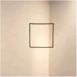 papel com um quadrado desenhado